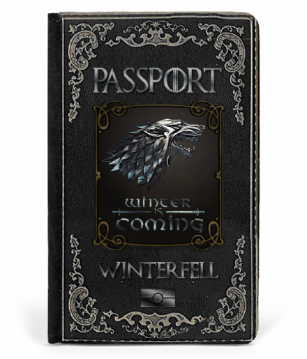 Winterfell - House Stark Faux Leather Passport Cover Inspired by Game of Thrones